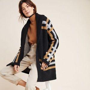NWOT Anthropologie Ferna Plaid Sweater Coat